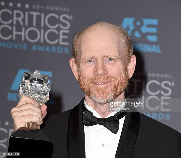 Director Ron Howard poses in the press room during the 20th annual Critics' Choice Movie Awards at the Hollywood Palladium on January 15 2015 in Los...