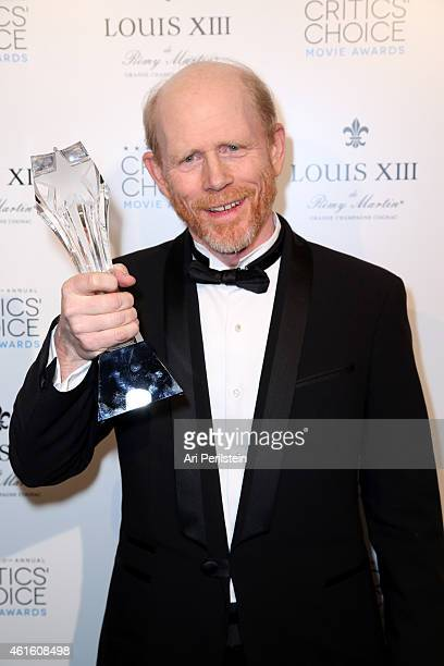 Director Ron Howard winner of the Critics' Choice LOUIS XIII Genius Award during the 20th annual Critics' Choice Movie Awards at the Hollywood...