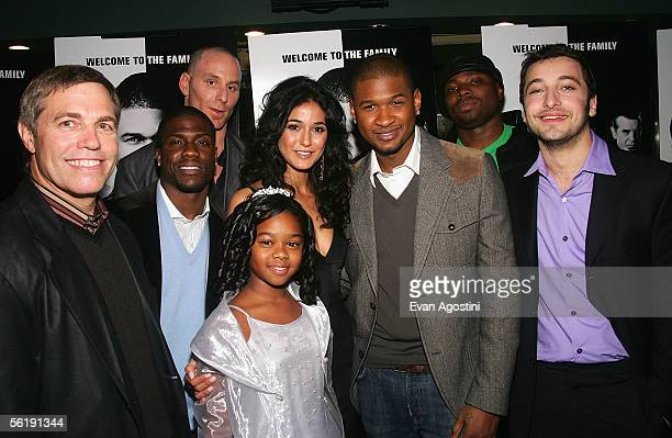 Director Ron Underwood actors Kevin Hart Matt Gerald Isis Faust Emmanuelle Chriqui Usher RaymondPage Kennedy and Anthony Fazio attend the premiere of...