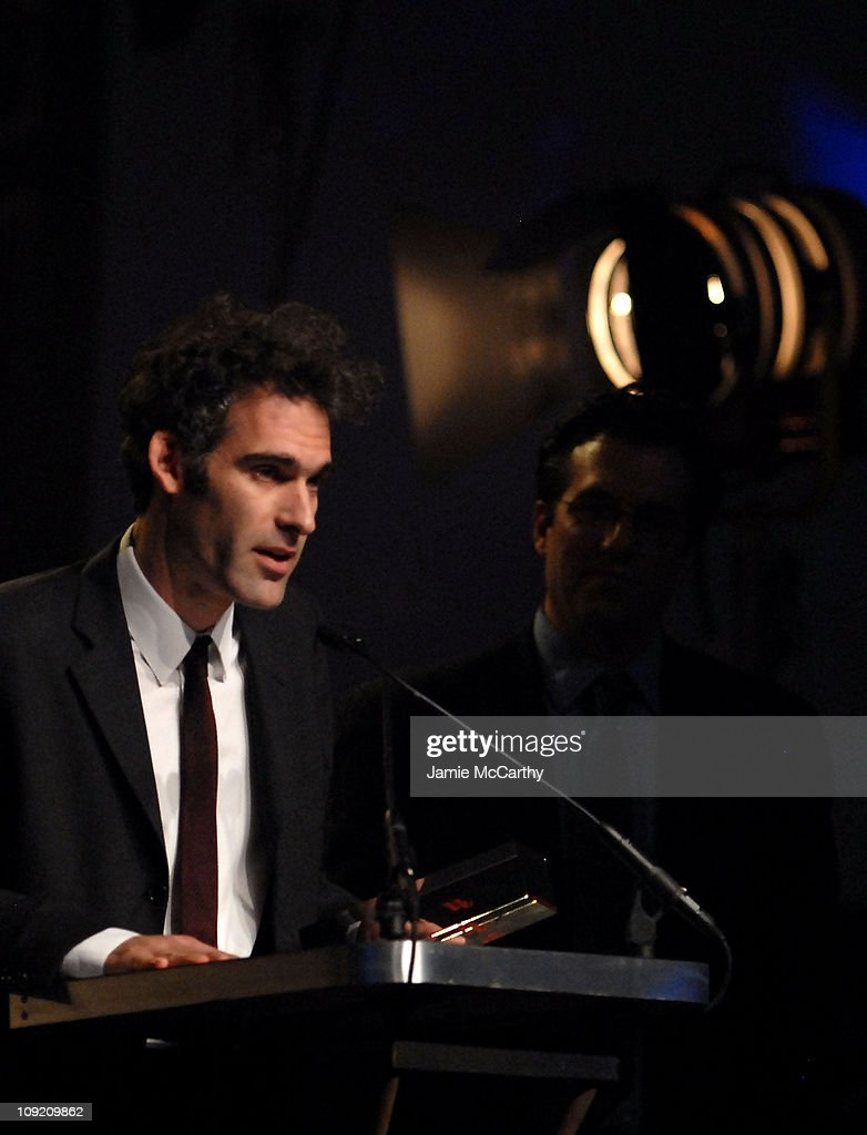 Director Ronald Bronstein, winner of Best Feature Not Playing at a Theater Near You, onstage during the 17th Annual Gotham Awards presented by IFP at Steiner Studios on November 27, 2007 in Brooklyn, NY.