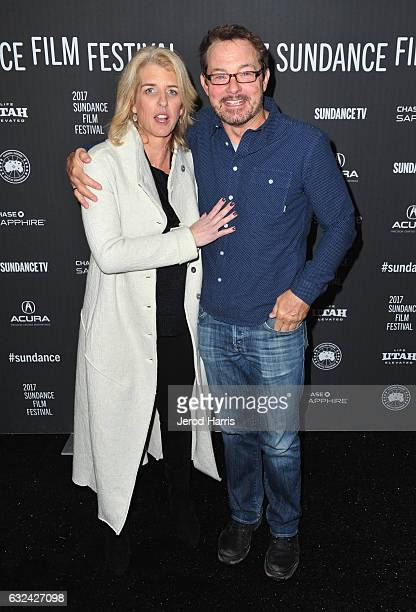 Director Rory Kennedy and Sundance Film Festival Senior Programmer David Courier attend the 'TAKE EVERY WAVE The Life Of Laird Hamilton' Premiere on...