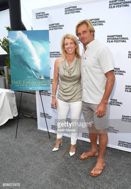 Director Rory Kennedy and Surfer Laird Hamilton attend The Hamptons International Film Festival SummerDocs Series Screening of TAKE EVERY WAVE THE...