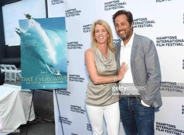 Director Rory Kennedy and writer Mark Bailey attend The Hamptons International Film Festival SummerDocs Series Screening of TAKE EVERY WAVE THE LIFE...
