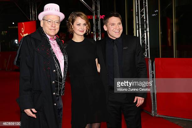 Director Rosa von Praunheim Luise Heyer and Hanno Koffler attend the 'Tough Love' premiere during the 65th Berlinale International Film Festival at...