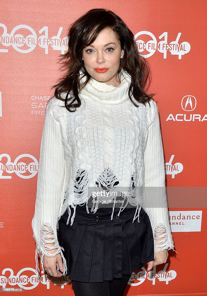 Director <a gi-track='captionPersonalityLinkClicked' href=/galleries/search?phrase=Rose+McGowan&family=editorial&specificpeople=206451 ng-click='$event.stopPropagation()'>Rose McGowan</a> attends the premiere of 'The Dawn' at the Egyptian Theatre during the 2014 Sundance Film Festival on January 16, 2014 in Park City, Utah.