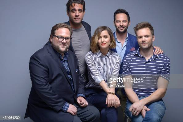 Director Ross Katz actor Bobby Cannavale actress Rose Byrne actor Nick Kroll and actor Joel McHale of 'Adult Beginners' pose for a portrait during...
