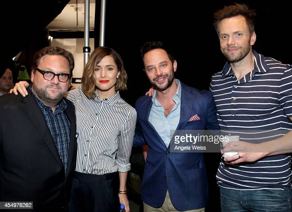 Director Ross Katz and Actors Rose Byrne Nick Kroll and Joel McHale attend the Variety Studio presented by Moroccanoil at Holt Renfrew during the...