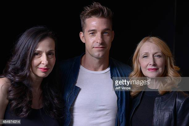 Director Ruba Nadda actor Scott Speedman and actress Patricia Clarkson of 'October Gale' pose for a portrait during the 2014 Toronto International...