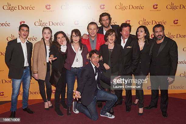 Director Ruben Alves poses with actors Alex Alves Pereira Alice Isaaz Barbara Cabrita Chantal Lauby Roland Giraud Lannick Gautry Rita Blanco Joaquim...