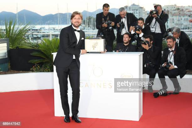 Director Ruben Ostlund who won the Palme d'Or for the movie 'The Square attends the Palme D'Or winner photocall during the 70th annual Cannes Film...