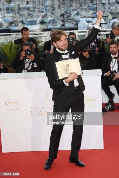 Director Ruben Ostlund winner of the Palme d'Or for the movie 'The Square' attends the Palme D'Or winner photocall during the 70th annual Cannes Film...
