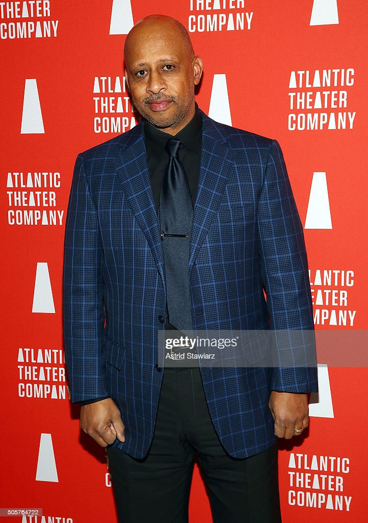 Director Ruben SantiagoHudson attends 'Skeleton Crew' Opening Night Curtain Call After Party at Jake's Saloon on January 19 2016 in New York City