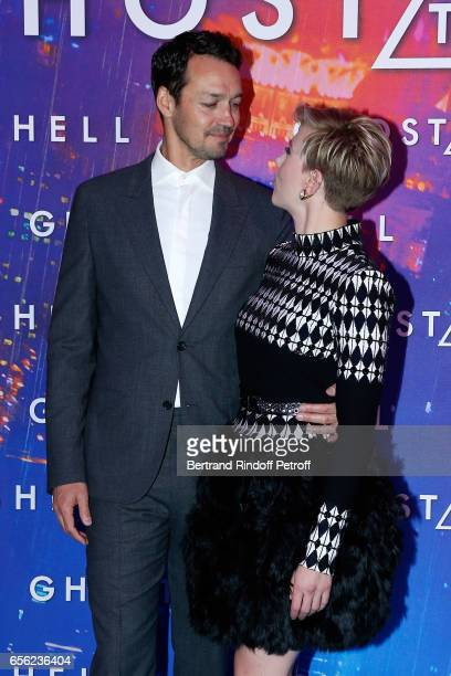Director Rupert Sanders and actress Scarlett Johansson attend the Paris Premiere of the Paramount Pictures release 'Ghost in the Shell' Held at Le...