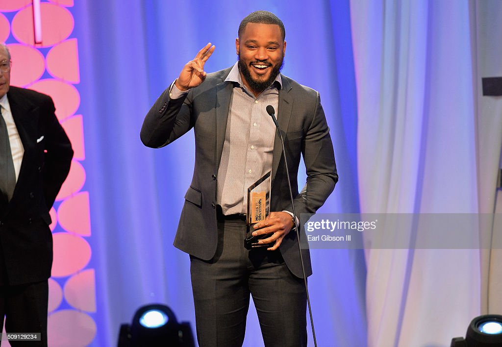 Director <a gi-track='captionPersonalityLinkClicked' href=/galleries/search?phrase=Ryan+Coogler&family=editorial&specificpeople=7316581 ng-click='$event.stopPropagation()'>Ryan Coogler</a> accepts the award for Best Integenerational Movie for 'Creed' onstage at the AARP's 15th Annual Movies For Grownups Awards at the Beverly Wilshire Four Seasons Hotel on February 8, 2016 in Beverly Hills, California.