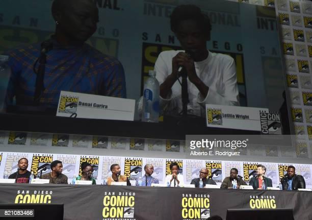 Director Ryan Coogler actors Chadwick Boseman Lupita Nyong'o Michael B Jordan Danai Gurira Letitia Wright Forest Whitaker Daniel Kaluuya Andy Serkis...