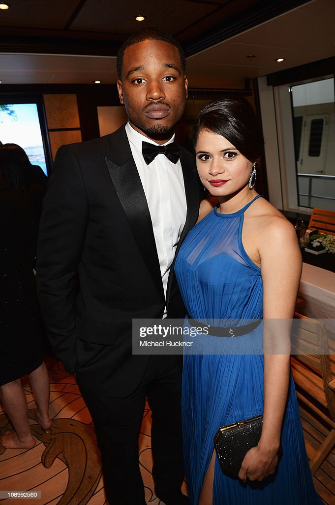 Director <a gi-track='captionPersonalityLinkClicked' href=/galleries/search?phrase=Ryan+Coogler&family=editorial&specificpeople=7316581 ng-click='$event.stopPropagation()'>Ryan Coogler</a> (L) and actress <a gi-track='captionPersonalityLinkClicked' href=/galleries/search?phrase=Melonie+Diaz&family=editorial&specificpeople=3323742 ng-click='$event.stopPropagation()'>Melonie Diaz</a> attend the Fruitvale Station Cannes screening dinner held aboard the Harle Yacht on May 16, 2013 in Cannes, France.