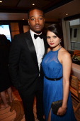Director Ryan Coogler and actress Melonie Diaz attend the Fruitvale Station Cannes screening dinner held aboard the Harle Yacht on May 16 2013 in...