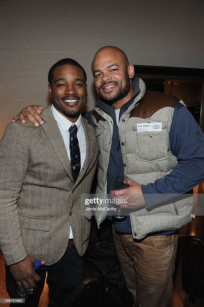 Director Ryan Coogler (L) attends the Grey Goose Blue Door 'Fruitvale' Dinner on January 19, 2013 in Park City, Utah.
