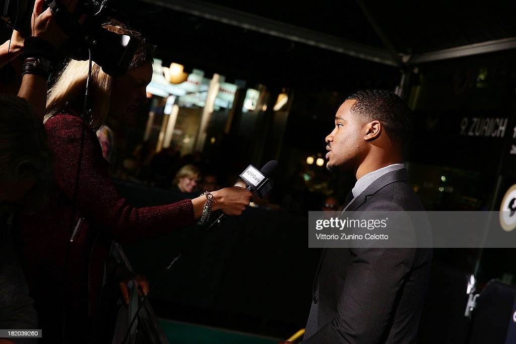 Director <a gi-track='captionPersonalityLinkClicked' href=/galleries/search?phrase=Ryan+Coogler&family=editorial&specificpeople=7316581 ng-click='$event.stopPropagation()'>Ryan Coogler</a> is interviewed during 'Fruitvale Station' green carpet during the 9th Zurich Film Festival on September 27, 2013 in Zurich, Switzerland.