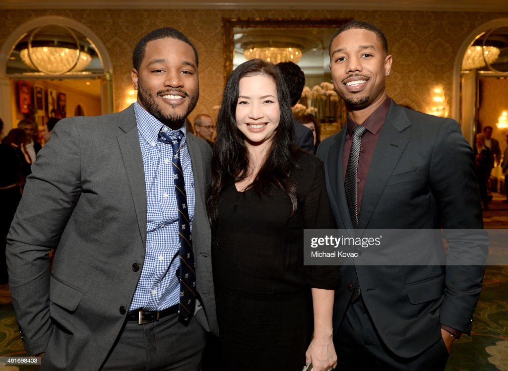 Director <a gi-track='captionPersonalityLinkClicked' href=/galleries/search?phrase=Ryan+Coogler&family=editorial&specificpeople=7316581 ng-click='$event.stopPropagation()'>Ryan Coogler</a>, producer Nina Yang Bongiovi, and actor <a gi-track='captionPersonalityLinkClicked' href=/galleries/search?phrase=Michael+B.+Jordan+-+Actor&family=editorial&specificpeople=608313 ng-click='$event.stopPropagation()'>Michael B. Jordan</a> attend the 14th annual AFI Awards Luncheon at the Four Seasons Hotel Beverly Hills on January 10, 2014 in Beverly Hills, California.