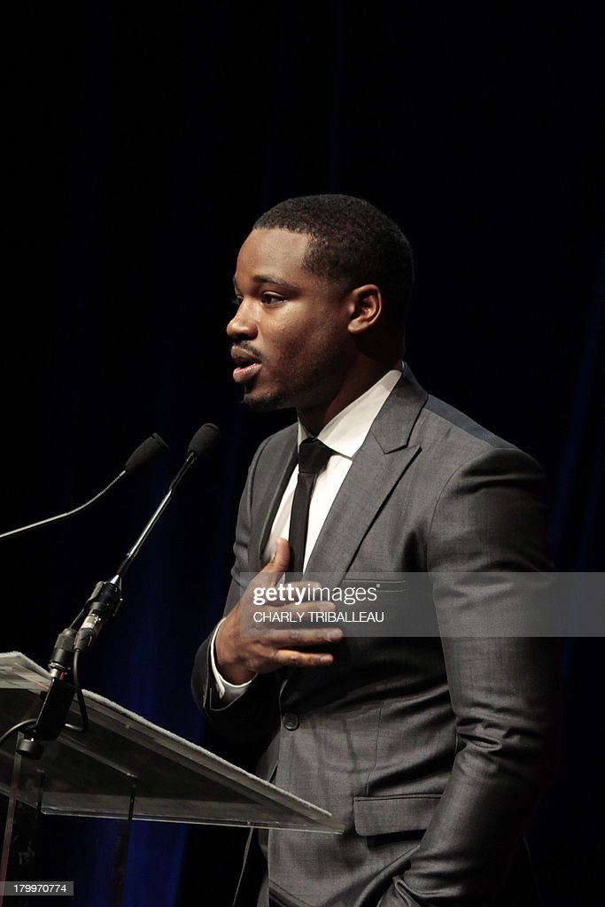 US director Ryan Coogler thanks the audience after winning the 'Cartier revelation prize' and the 'Deauville audience award' with the film 'Fruitvale station' on September 7, 2013 as part of the Deauville US Film Festival, in the French northwestern sea resort of Deauville.
