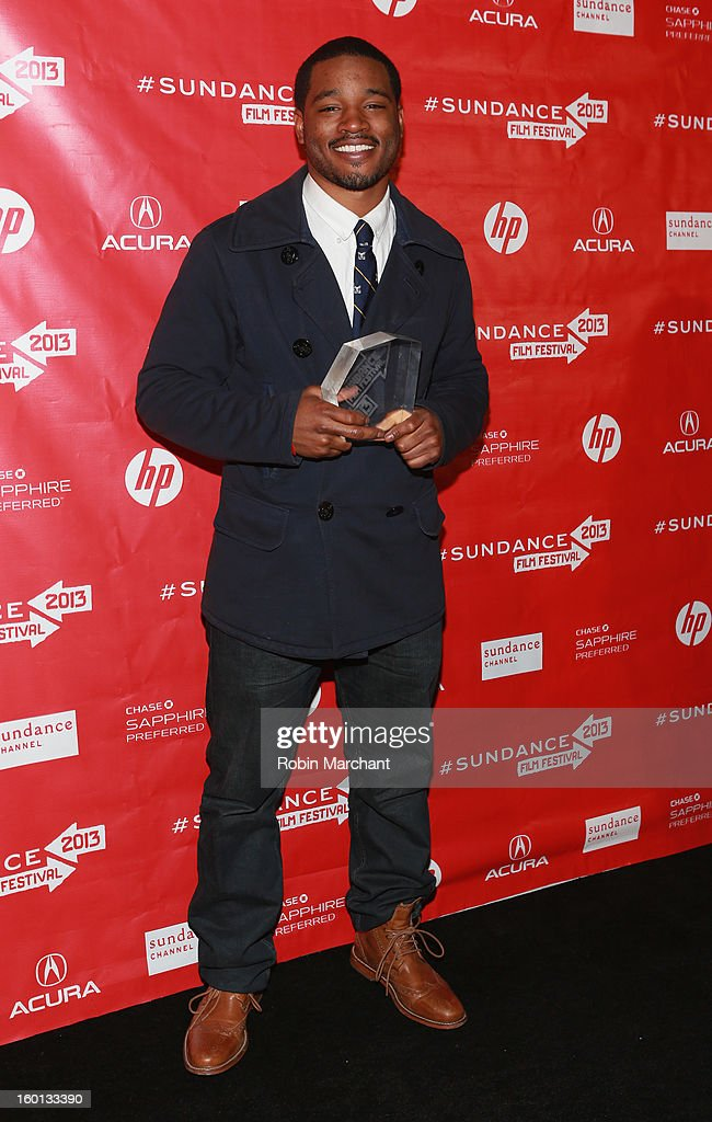Director Ryan Coogler winner of the Grand Jury Prize: U.S. Dramatic for Fruitvale poses with award at the Awards Night Ceremony during the 2013 Sundance Film Festival at Basin Recreation Field House on January 26, 2013 in Park City, Utah.