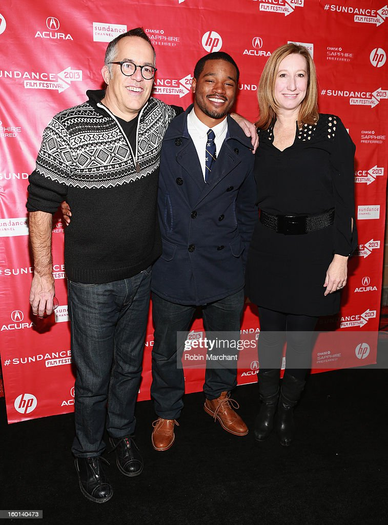 Director Ryan Coogler(center) winner of the Grand Jury Prize: U.S. Dramatic for Fruitvale poses with Director of the Sundance Film Festival John Cooper and Sundance Institute Executive Director Keri Putnam at the Awards Night Ceremony during the 2013 Sundance Film Festival at Basin Recreation Field House on January 26, 2013 in Park City, Utah.
