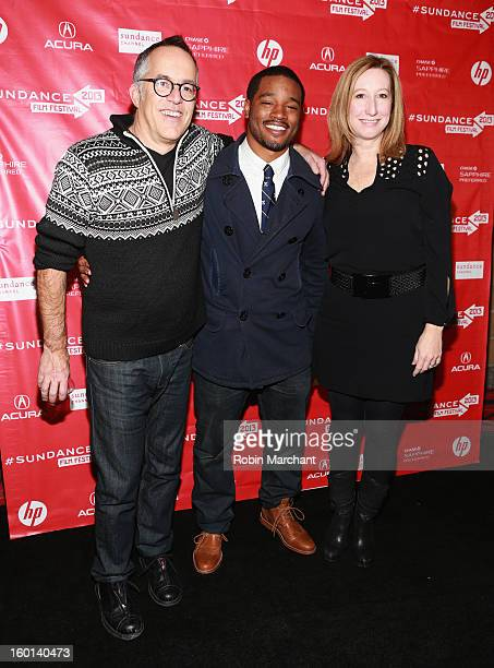Director Ryan Coogler winner of the Grand Jury Prize US Dramatic for Fruitvale poses with Director of the Sundance Film Festival John Cooper and...