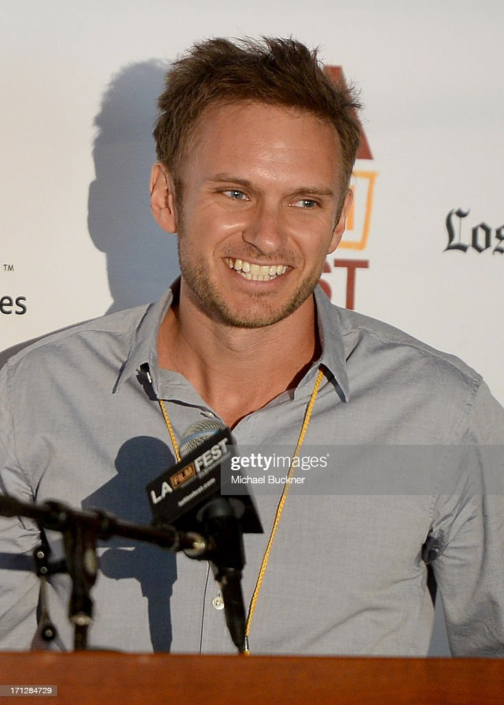 Director Ryan McGarry, winner of the DIRECTV Documentary Award (for Best Documentary Feature) for 'Code Black', speaks during the Awards Brunch during the 2013 Los Angeles Film Festival at Chaya Downtown on June 23, 2013 in Los Angeles, California.