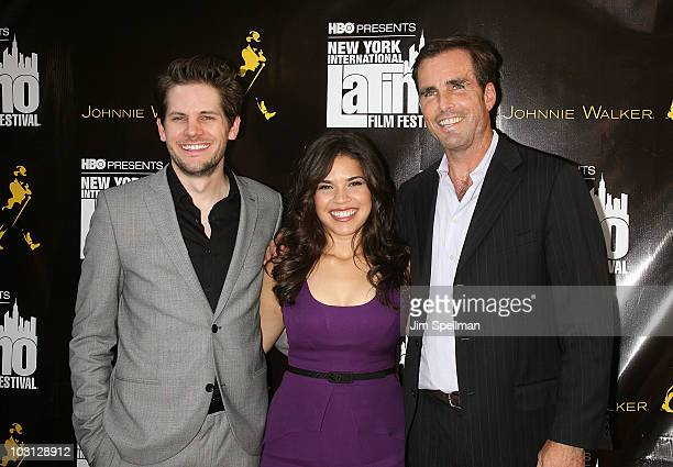 Director Ryan Piers Williams Actress America Ferrera and Bob Woodruff attend the 2010 NYILFF Premiere of 'The Dry Land' at the School of Visual Arts...