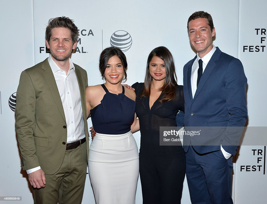Director Ryan Piers Williams, actress/producer America Ferrera, actress Melonie Diaz and actor Jon Paul Phillips attend the 'X/Y' Premiere during the 2014 Tribeca Film Festival at BMCC Tribeca PAC on April 19, 2014 in New York City.