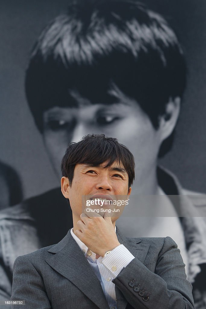 Director Ryu Seung-Wan attends the Open Talk - Action Battle of the Directors- at Haeundae beach during the 18th Busan International Film Festival on October 5, 2013 in Busan, South Korea.