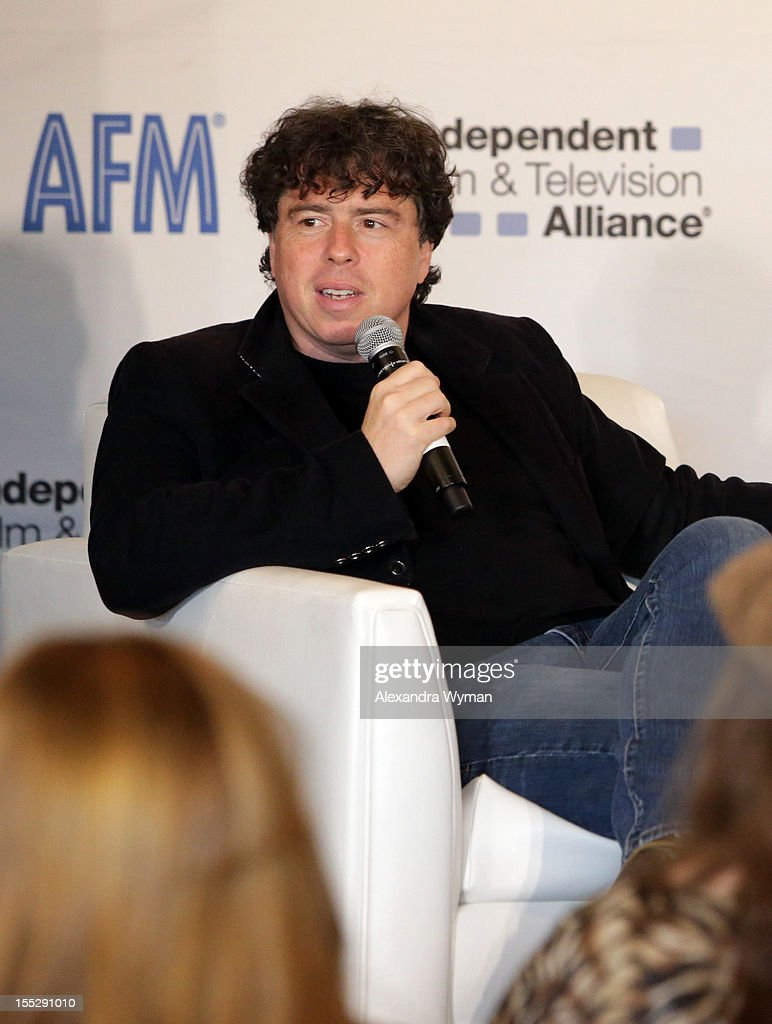 Director <a gi-track='captionPersonalityLinkClicked' href=/galleries/search?phrase=Sacha+Gervasi&family=editorial&specificpeople=4824031 ng-click='$event.stopPropagation()'>Sacha Gervasi</a> attends American Film Market - Day 3 at the Loews Santa Monica Beach Hotel on November 2, 2012 in Santa Monica, California.
