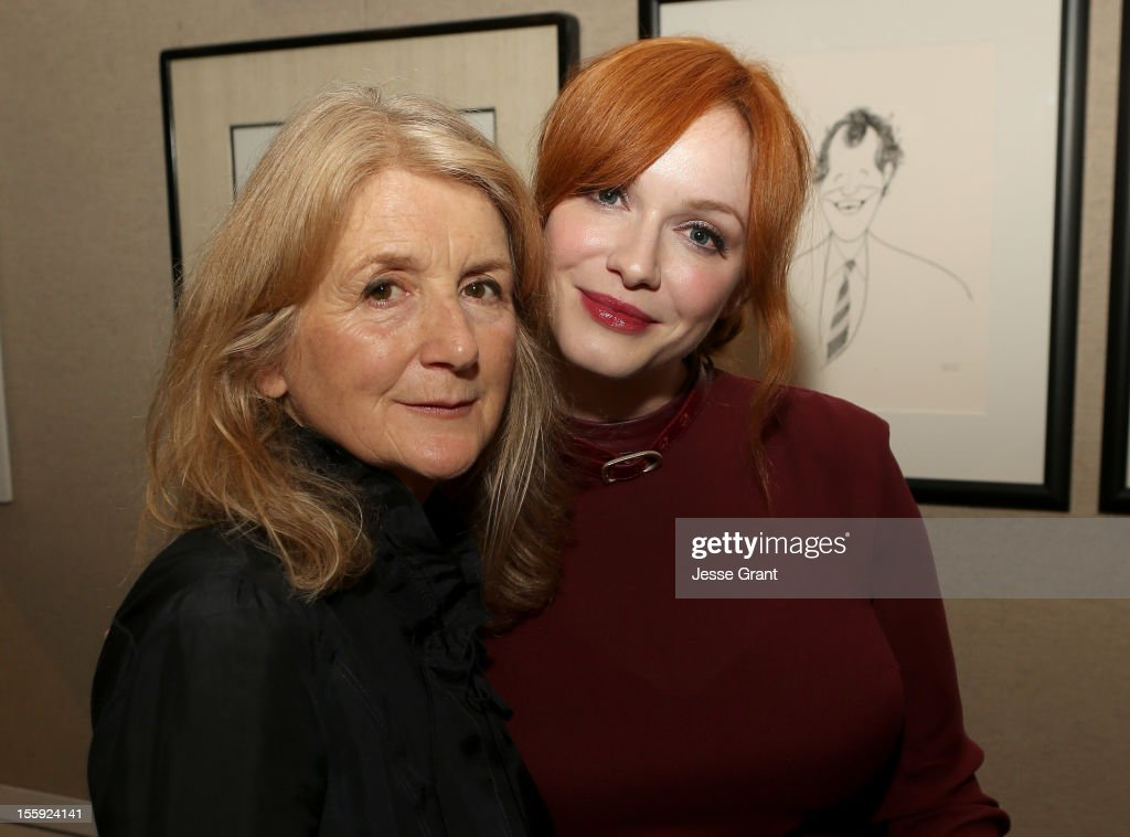 Director <a gi-track='captionPersonalityLinkClicked' href=/galleries/search?phrase=Sally+Potter&family=editorial&specificpeople=212743 ng-click='$event.stopPropagation()'>Sally Potter</a> and actress <a gi-track='captionPersonalityLinkClicked' href=/galleries/search?phrase=Christina+Hendricks&family=editorial&specificpeople=2239736 ng-click='$event.stopPropagation()'>Christina Hendricks</a> attend the 'Ginger & Rosa' Los Angeles special screening after party at The Paley Center for Media on November 8, 2012 in Beverly Hills, California.