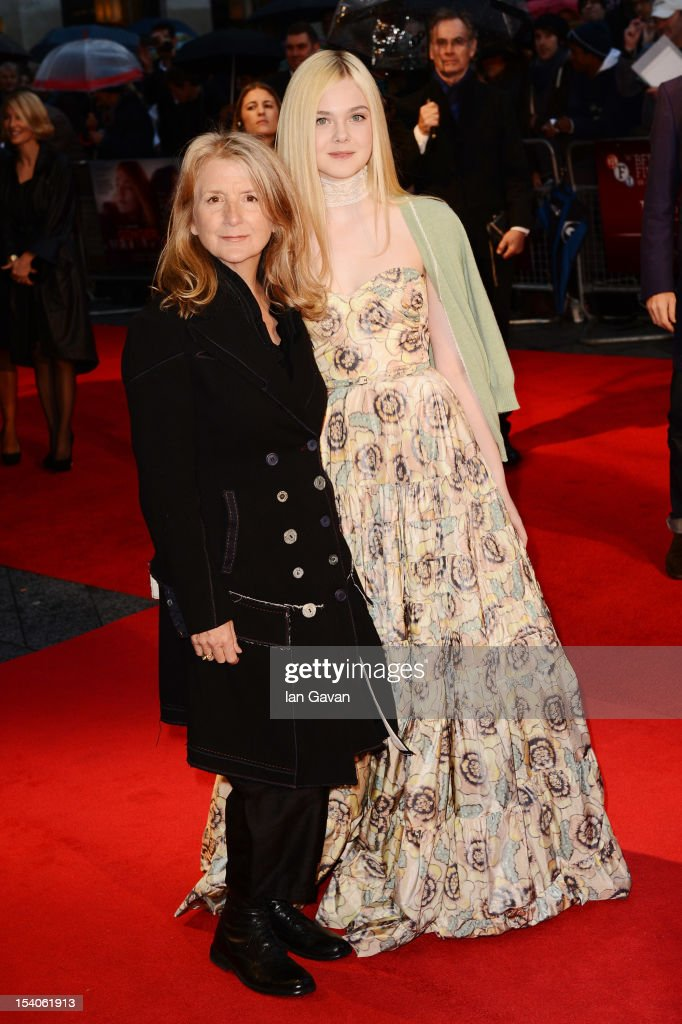 Director <a gi-track='captionPersonalityLinkClicked' href=/galleries/search?phrase=Sally+Potter&family=editorial&specificpeople=212743 ng-click='$event.stopPropagation()'>Sally Potter</a> and actress <a gi-track='captionPersonalityLinkClicked' href=/galleries/search?phrase=Elle+Fanning&family=editorial&specificpeople=2189940 ng-click='$event.stopPropagation()'>Elle Fanning</a> attend the premiere of 'Ginger and Rosa' during the 56th BFI London Film Festival at Odeon West End on October 13, 2012 in London, England.