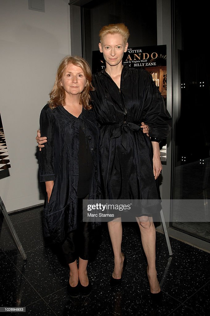 Director <a gi-track='captionPersonalityLinkClicked' href=/galleries/search?phrase=Sally+Potter&family=editorial&specificpeople=212743 ng-click='$event.stopPropagation()'>Sally Potter</a> (L) and actress <a gi-track='captionPersonalityLinkClicked' href=/galleries/search?phrase=Tilda+Swinton&family=editorial&specificpeople=202991 ng-click='$event.stopPropagation()'>Tilda Swinton</a> (R) attend the <a gi-track='captionPersonalityLinkClicked' href=/galleries/search?phrase=Sally+Potter&family=editorial&specificpeople=212743 ng-click='$event.stopPropagation()'>Sally Potter</a> Retrospective at The Museum of Modern Art on July 7, 2010 in New York City.
