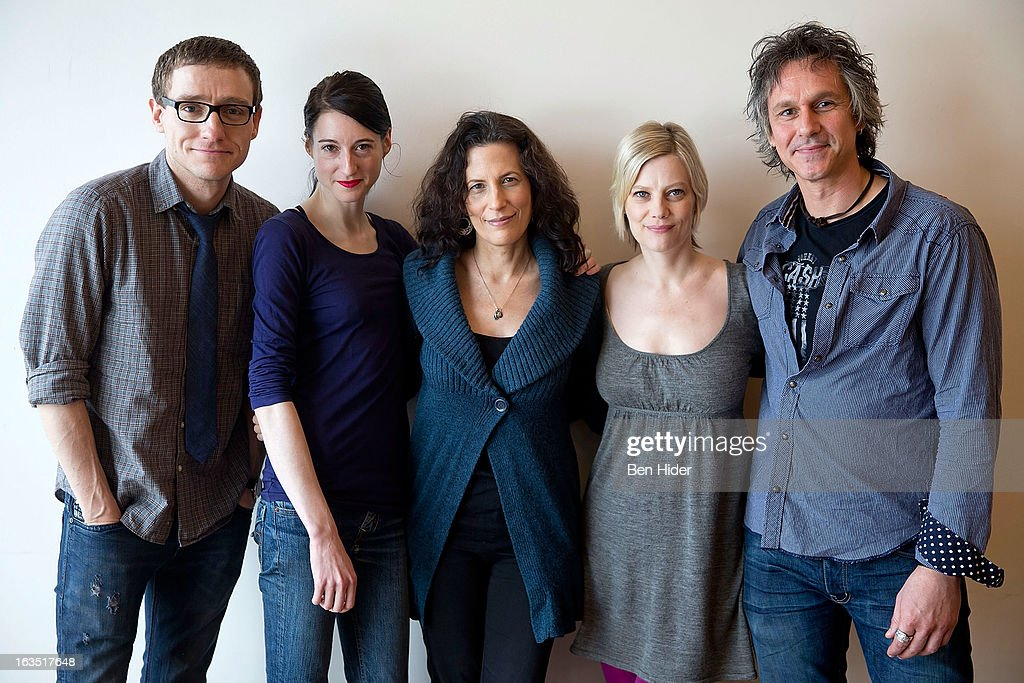 Director Sam Buntrock, Actors Kellie Overbey, Playwright Kara Manning, Quentin Mare and Renata Friedman attend the 'Sleeping Rough' Cast Photo Call at Playwrights Horizon's North Rehearsal Studio on March 11, 2013 in New York City.