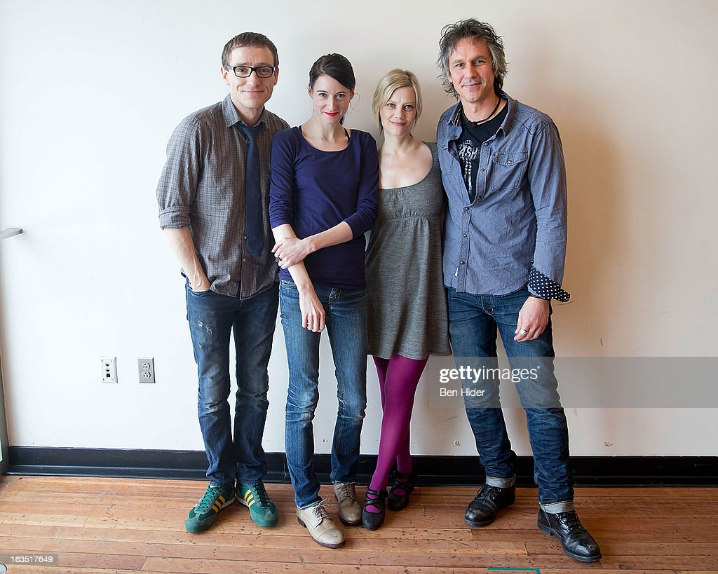 Director Sam Buntrock, Actors Kellie Overbey, Quentin Mare and Renata Friedman attend the 'Sleeping Rough' Cast Photo Call at Playwrights Horizon's North Rehearsal Studio on March 11, 2013 in New York City.