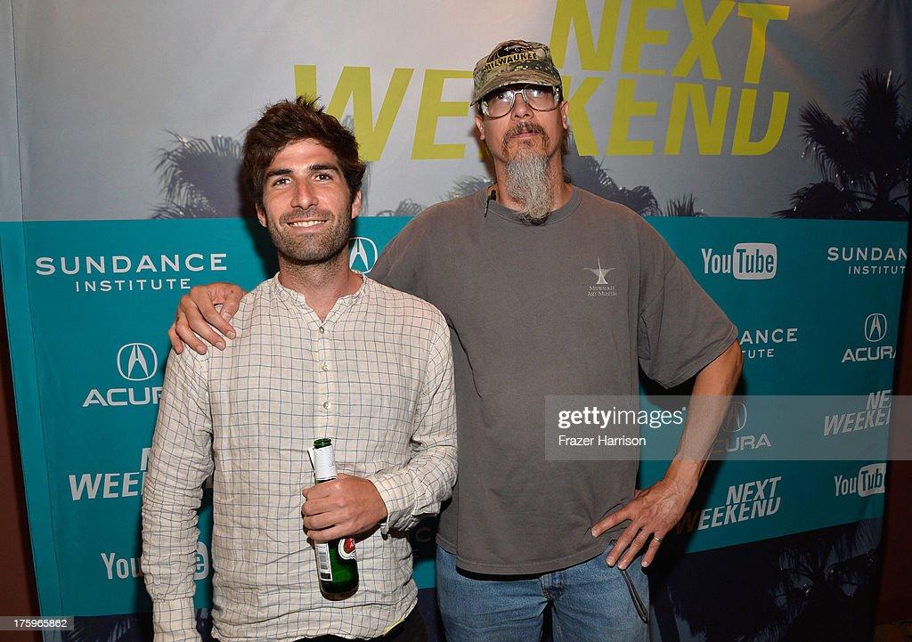 Director Sam Fleischner and Filmmaker Mark Borchardt attend NEXT WEEKEND, presented by Sundance Institute at Sundance Sunset Cinema on August 10, 2013 in Los Angeles, California.