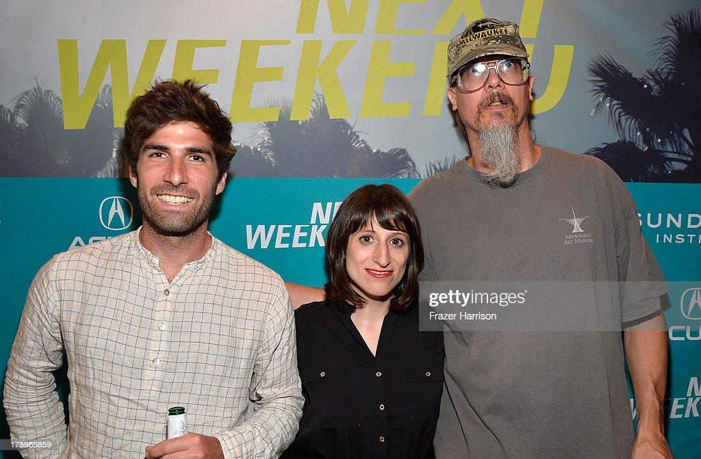 Director Sam Fleischner, Filmmaker Mark Borchardt, Director Eliza Hittman attend NEXT WEEKEND, presented by Sundance Institute at Sundance Sunset Cinema on August 10, 2013 in Los Angeles, California.