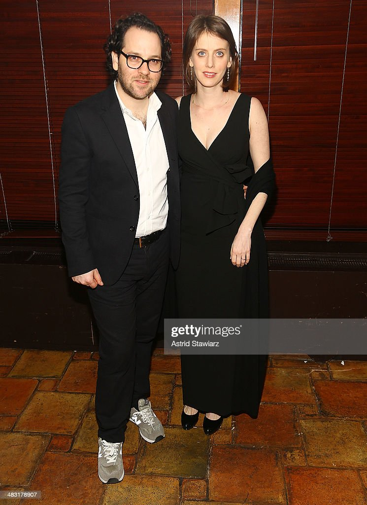 Director Sam Gold and Amy Herzog attend the 'The Realistic Joneses' opening night after party at The Redeye Grill on April 6, 2014 in New York City.