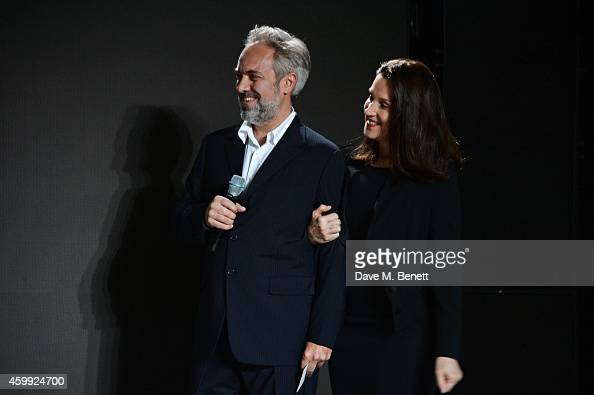 Director Sam Mendes and producer Barbara Broccoli attend a photocall with cast and filmmakers to mark the start of production which is due to...