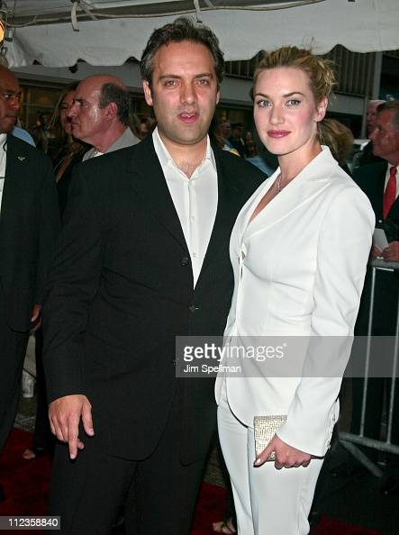 Director Sam Mendes Kate Winslet during 'Road to Perdition' New York Premiere at Ziegfeld Theatre in New York City New York United States