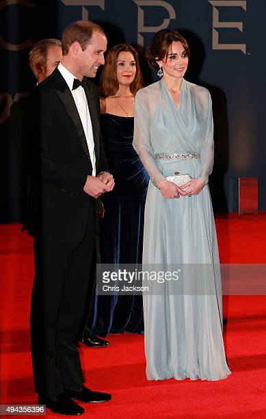 Director Sam Mendes producer Barbara Broccoli Prince William Duke of Cambridge and Catherine Duchess of Cambridge attend The Cinema and Television...