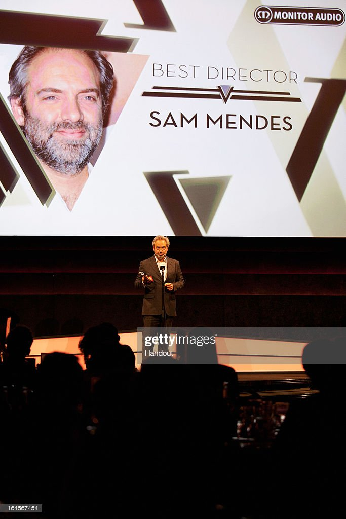 Director Sam Mendes wins the Best Director award for 'Skyfall' at the Jameson Empire Awards at Grosvenor House on March 24, 2013 in London, England. Renowned for being one of the most laid-back awards shows in the British movie calendar, the Jameson Empire Awards celebrate the film industry's success stories of the year with Empire Magazine readers voting for the winners. Visit empireonline.com/awards2013 for more information.
