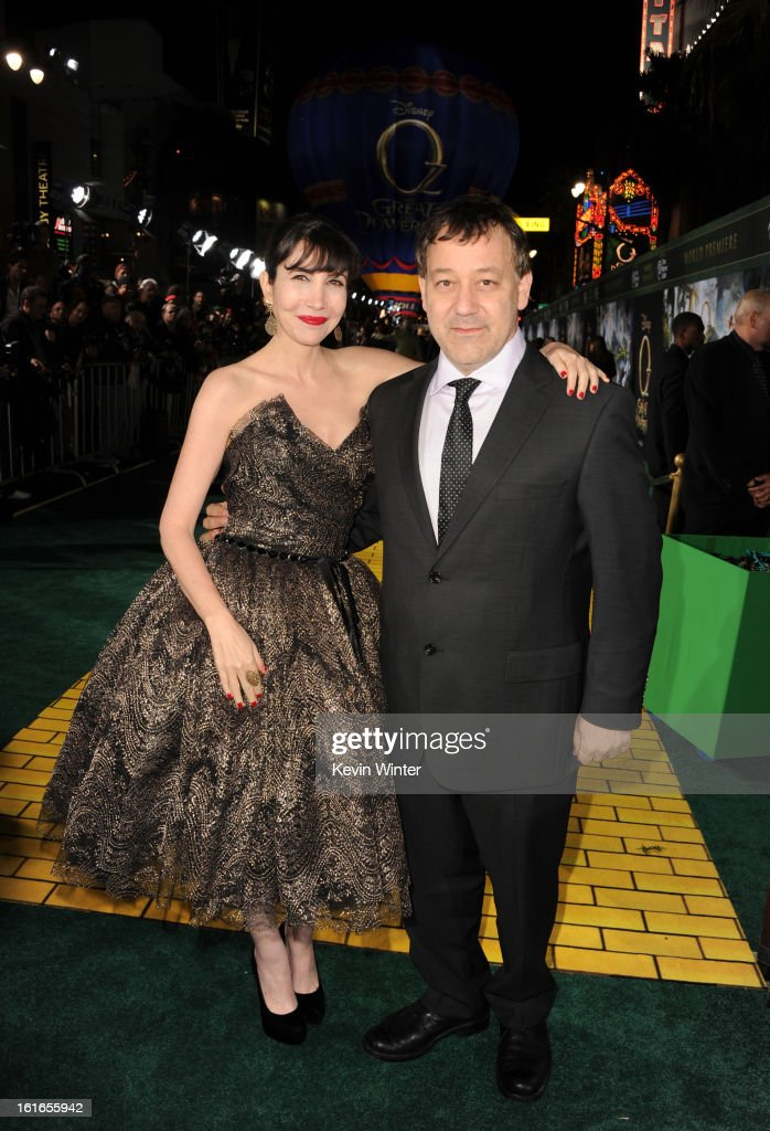Director <a gi-track='captionPersonalityLinkClicked' href=/galleries/search?phrase=Sam+Raimi&family=editorial&specificpeople=215417 ng-click='$event.stopPropagation()'>Sam Raimi</a> (R) and wife Gillian Raimi attend the world premiere of Walt Disney Pictures' 'Oz The Great And Powerful' at the El Capitan Theatre on February 13, 2013 in Hollywood, California.