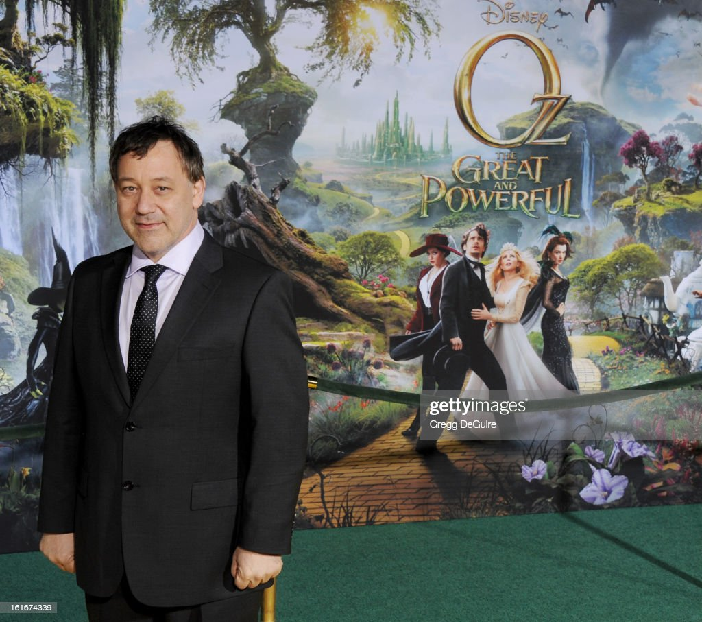 Director Sam Raimi arrives at the Los Angeles premiere of 'Oz The Great and Powerful' at the El Capitan Theatre on February 13, 2013 in Hollywood, California.