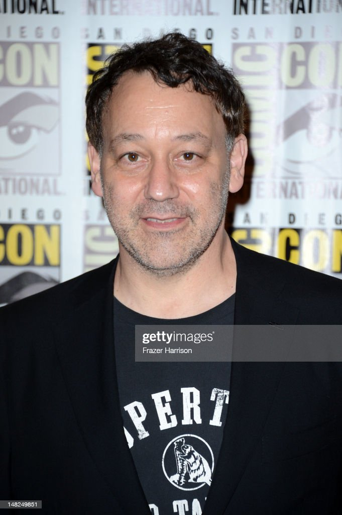 Director <a gi-track='captionPersonalityLinkClicked' href=/galleries/search?phrase=Sam+Raimi&family=editorial&specificpeople=215417 ng-click='$event.stopPropagation()'>Sam Raimi</a> attends Walt Disney Studios: 'Frankenweenie,' 'Wreck It Ralph' and 'Oz' during Comic-Con International 2012 held at the Hilton San Diego Bayfront Hotel on July 13, 2012 in San Diego, California.
