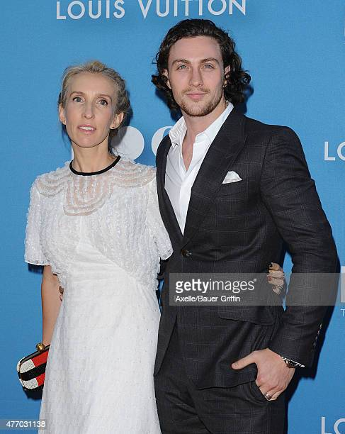 Director Sam TaylorJohnson and actor Aaron TaylorJohnson attend the 2015 MOCA Gala at The Geffen Contemporary at MOCA on May 30 2015 in Los Angeles...