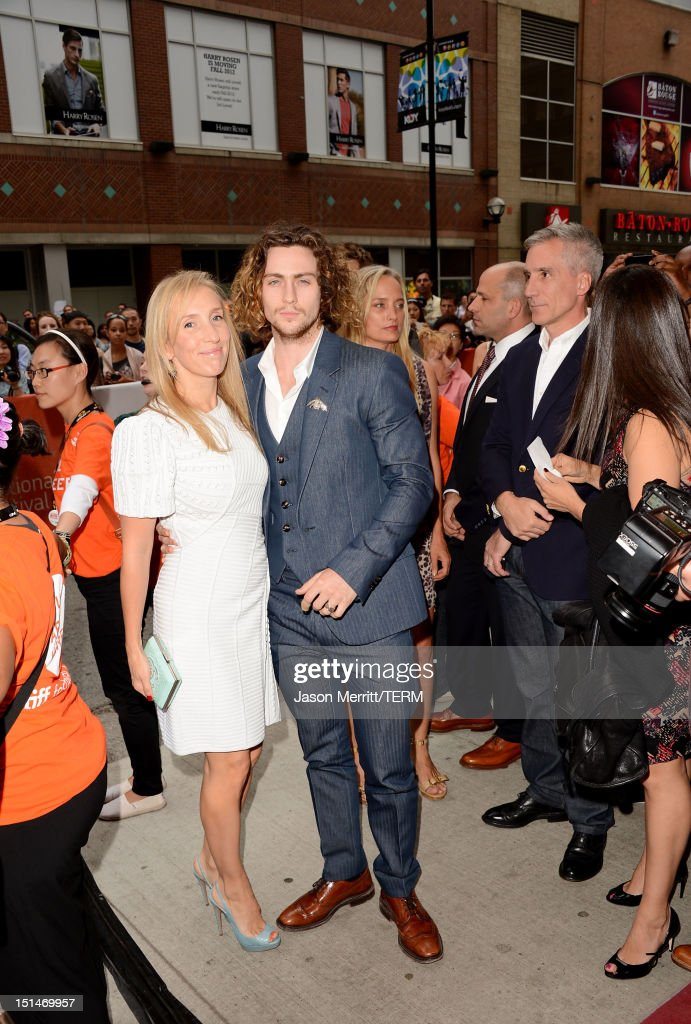 Director Sam Taylor-Wood and actor Aaron Taylor-Johnson attend the 'Anna Karenina' premiere during the 2012 Toronto International Film Festival at The Elgin on September 7, 2012 in Toronto, Canada.